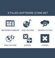 software icons vector image vector image