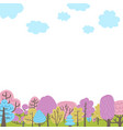 trees elements natural forest landscapes flat vector image vector image