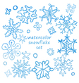 watercolor snowflakes vector image vector image