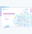 web page design templates cloud computing concept vector image
