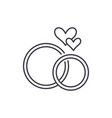 wedding rings line icon concept wedding rings vector image vector image
