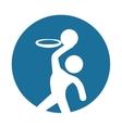 man silhouette player basketball icon vector image