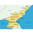 Democratic Peoples Republic of Korea - map vector image