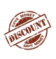 discount stamp vector image