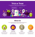 Trick or Treat Web Design Template vector image