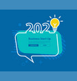 2020 happy new year with creative light bulb and vector image vector image