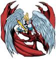 angel versus devil 2 vector image vector image
