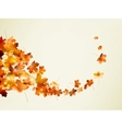 Autumn background template EPS 10 vector image vector image