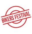 Bikers Festival rubber stamp vector image