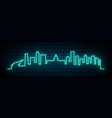 blue neon skyline denver city bright denver vector image vector image