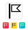 Burgee flag icon vector image vector image