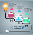 busines infographic bulb light cart icon vector image vector image