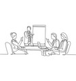 Business training concept single continuous line