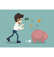 Businessman lose money vector image vector image
