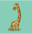 camelopard cartoon savannah animal giraffe hand dr vector image vector image