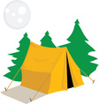 Camp Tent vector image vector image