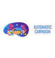 car wash service concept banner header vector image vector image