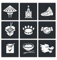 China and Russia Icons Set vector image vector image