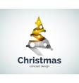 Christmas tree logo template vector image