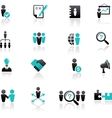 Collection of human resources icons vector