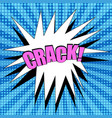 comic page blue background vector image vector image