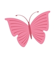 cute butterfly pink icon vector image