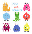 cute cartoon monsters set collection for any vector image vector image