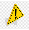 danger warning sign isometric icon vector image vector image