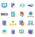 Data base icons set cartoon style vector image vector image