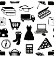 doodle shopping seamless pattern vector image vector image