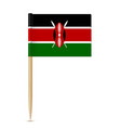 flag of kenya flag toothpick on white background vector image vector image