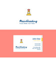 flat chef logo and visiting card template vector image