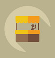 flat modern design with shadow icon coffee stall vector image vector image
