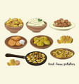 food from potatoes vector image