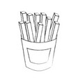 french fries fast food delicious fresh vector image vector image