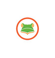 frog logo s vector image