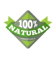 Green organic natural eco label vector image vector image