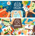 Handmade creative kids banners vector image vector image