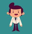 Happy Cartoon Doctor Standing vector image