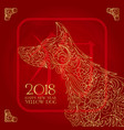 happy chinese new year card is chinese lantern and vector image vector image