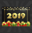 happy new year christmas card balloons garland vector image vector image