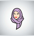 hijab logo design template vector image vector image