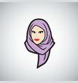 hijab logo design template vector image