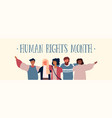 international human rights diverse friend group vector image vector image