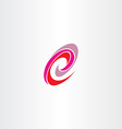 letter e red magenta spiral logo icon vector image vector image