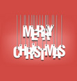 letters merry christmas hanging on a ropes vector image