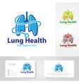 lung health logo designs vector image
