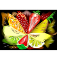 mix fruit vector image