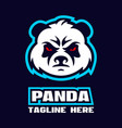 modern angry panda logo vector image vector image