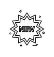 new tag icon design vector image